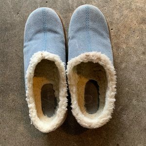Naturalizer Ripley blue suede lines clogs mules